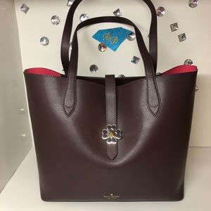 kate spade Bags - KATE♠️SPADE KACI BURGUNDY LEATHER MEDIUM TOTE NWT